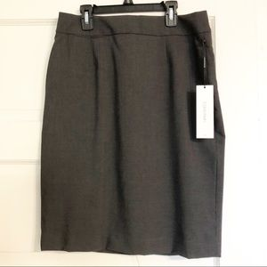 Calvin Klein NWT Charcoal Grey Career Pencil Skirt